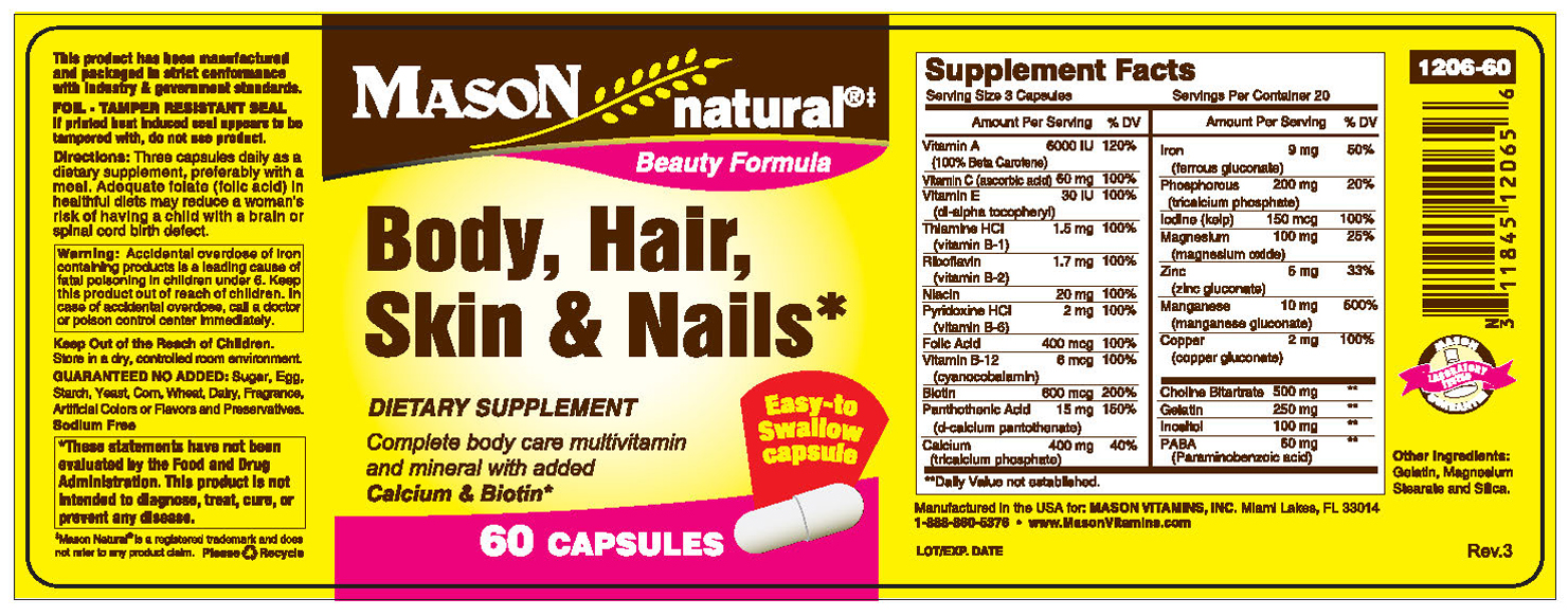 Mason Natural Body Hair Skin And Nails Reviews