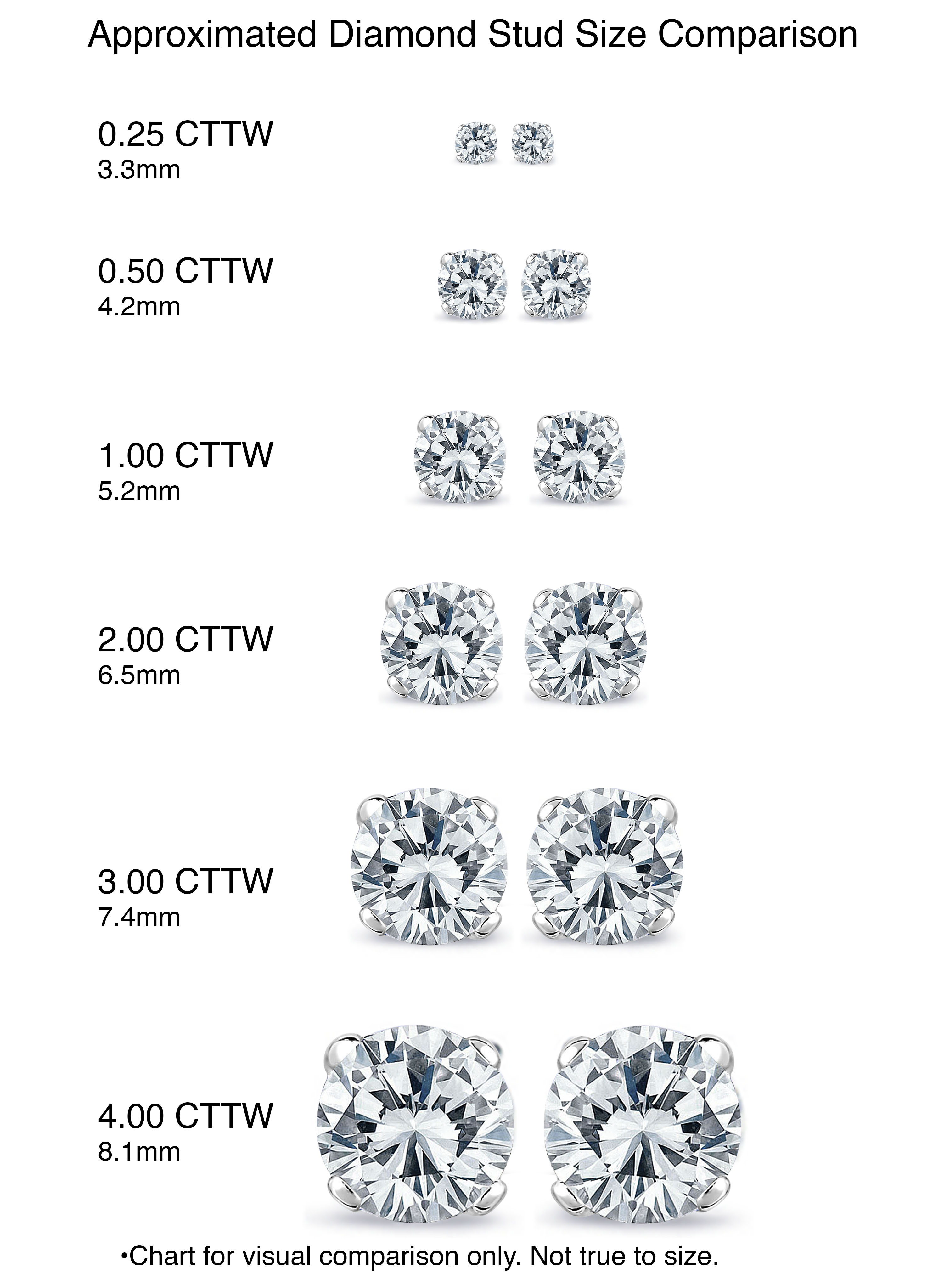 wedding gold in ctw earrings square diamond i si white engagement stud h promise rings round cut