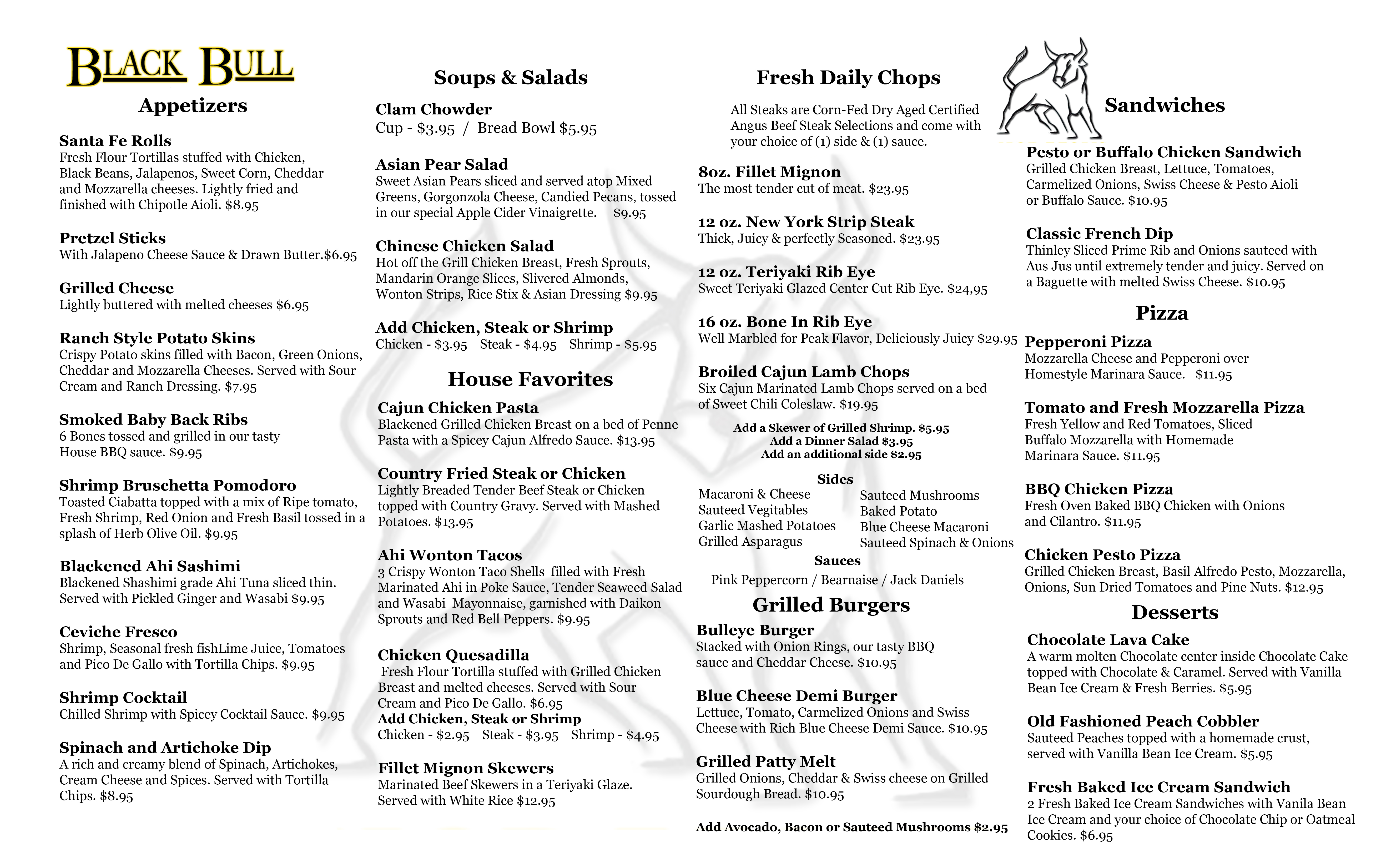 Steakhouse Fare and Drinks Black Bull Chop House