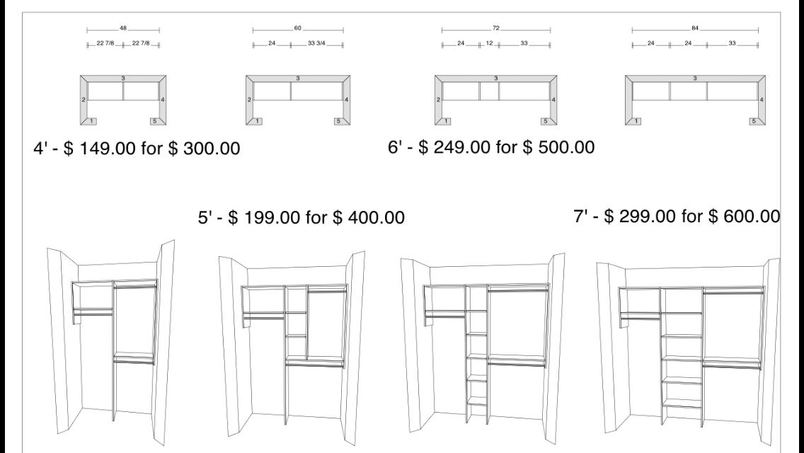 Captivating All Installations Include Materials. See Diagram Of Closet ...