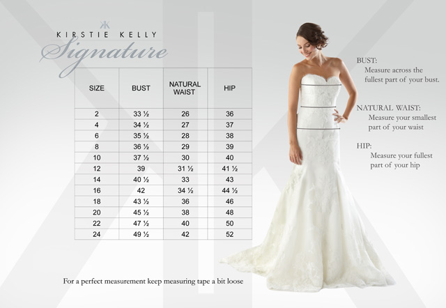 Wedding Dress Sizing Guide