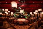 Red o newport beach interior dining room