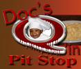 Doc's Q'in Pit Stop Logo