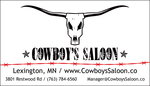 Cowboyssaloon white bc front black eyes