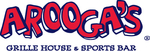 Aroogas logo logo with r clear letter ends