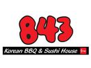 843 Korean BBQ & Sushi House Logo