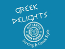 Greek Delights Food Trailer Logo