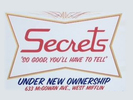 Secrets Bar and Grill Logo