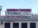 Blondie's Trolley Diner Logo