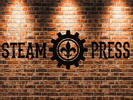 Steam Press Coffee Cafe Logo