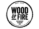 Wood and Fire Restaurant Logo