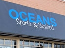 Oceans Sports and Seafood Logo