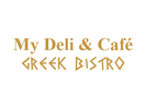 My Deli & Café: Greek Bistro Logo