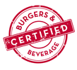 Certified Burgers and Beverage Logo