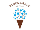 Blue Marble Ice Cream Logo