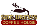 She Brews Coffee House Logo