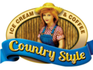 Country Style Ice Cream and Coffee Logo