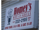 Homey's Que and Grill Logo