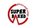 Super Baked Pizza and Wings Logo