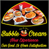 Bubble Cream-Burgers~Bubble Tea~Ice Cream Flakes Logo