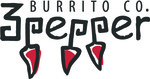 3 Pepper Burrito Co. Logo