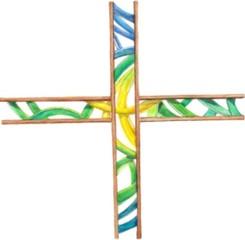 Good shepherd cross artwork