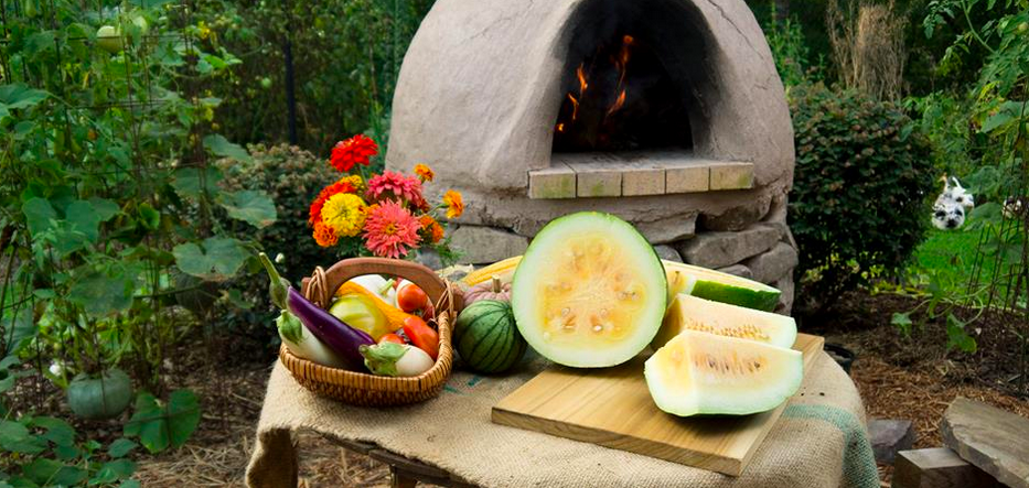 We make a lot of food (especially pizzas and bread) in our wood-fired cob oven. The coals are removed as soon as the oven is hot enough for cooking (it can heat to 800 degrees) and put into our duck pond, where they are