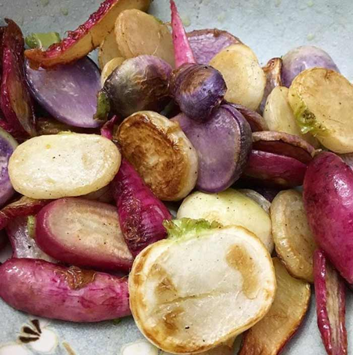 Roasted root veggies: a fall and winter favorite.