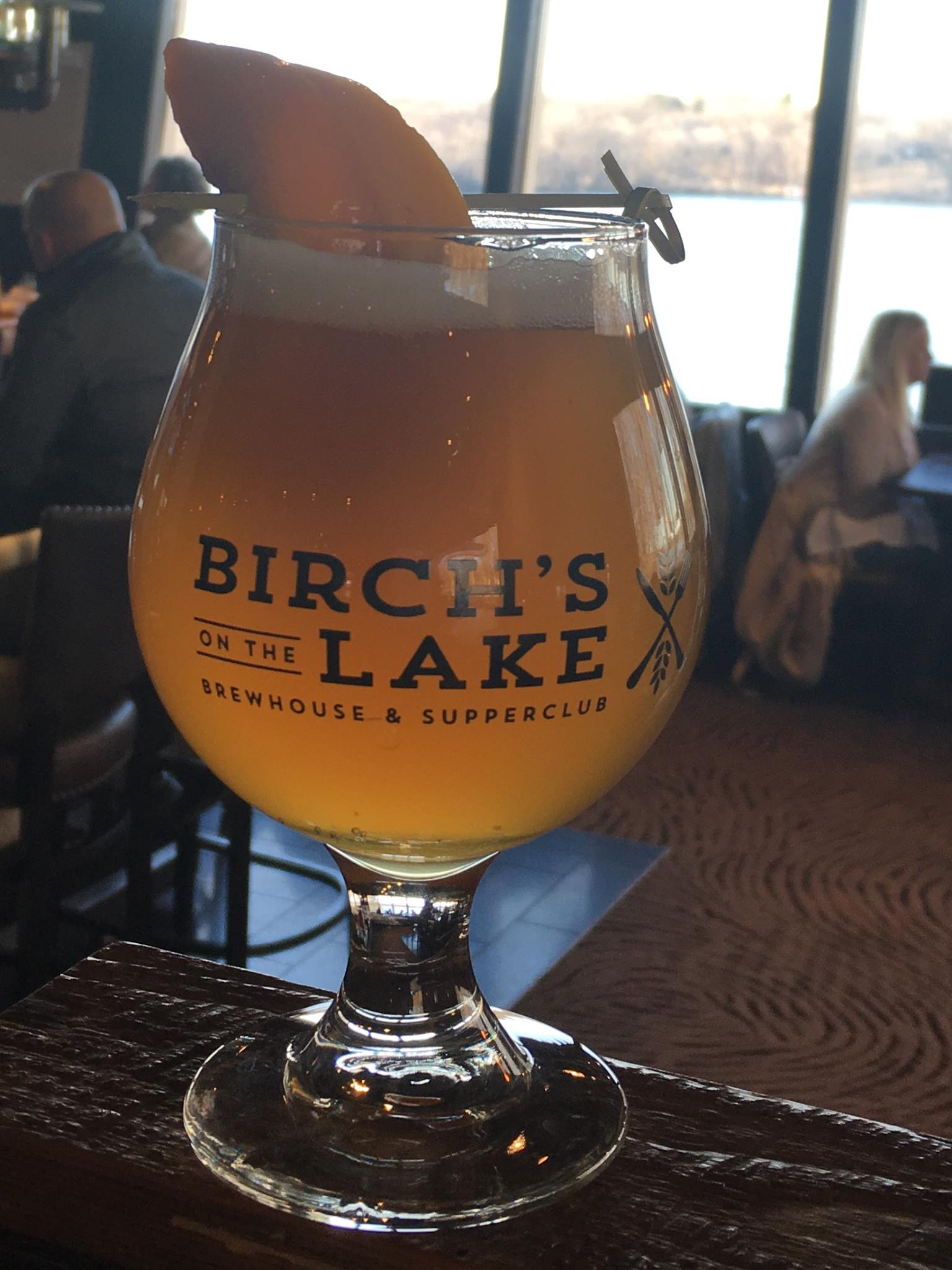 Birch's on the Lake kettle-soured peach ale