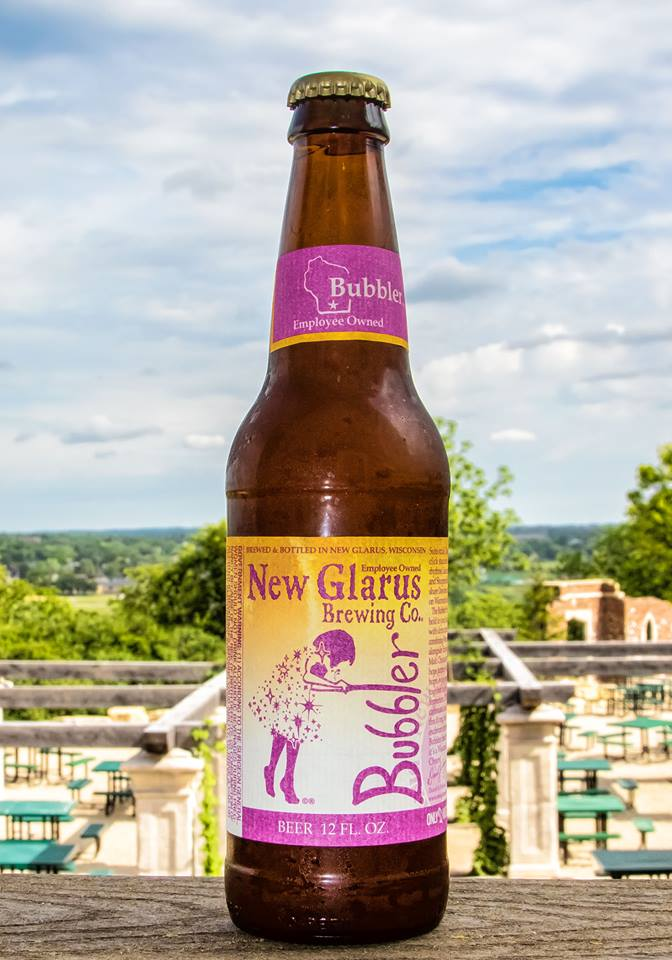 New Glarus' new hefeweizen, Bubbler // Photo via facebook.com/newglarusbrewing