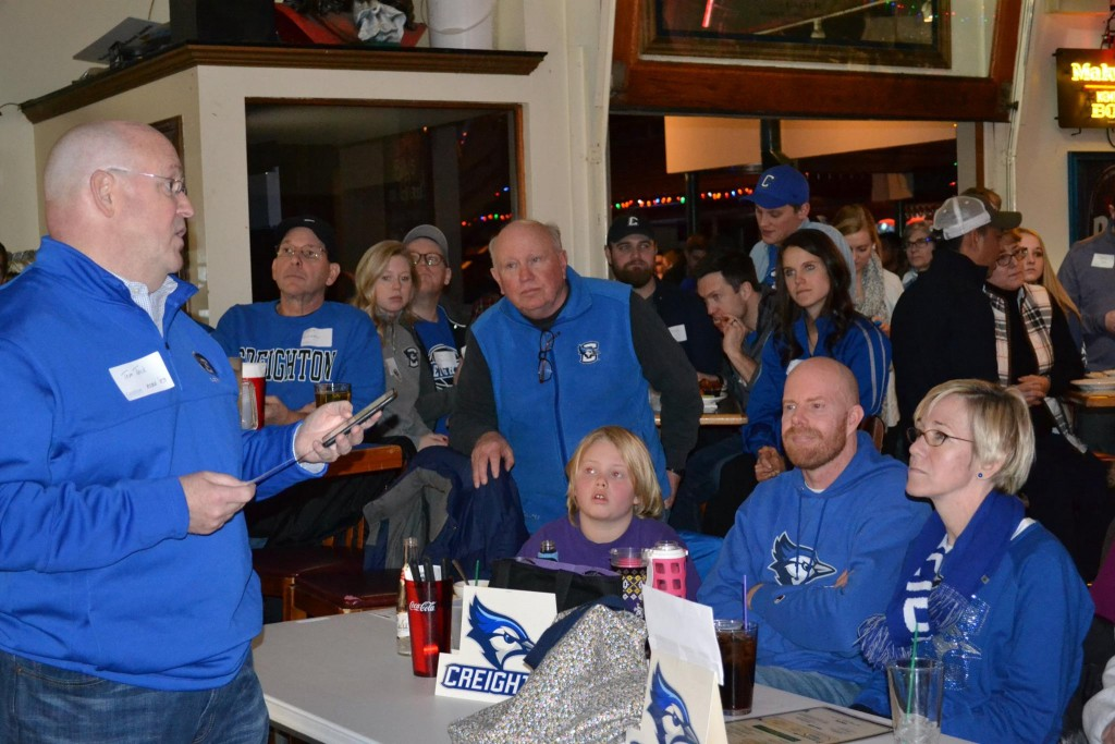 Creighton fans at Billy's // Photo via Creighton Club of the Twin Cities on Facebook