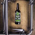 Bottle of Valve Jockey #1 Oatmeal IPA // Photo courtesy of Bent Paddle Brewing Company