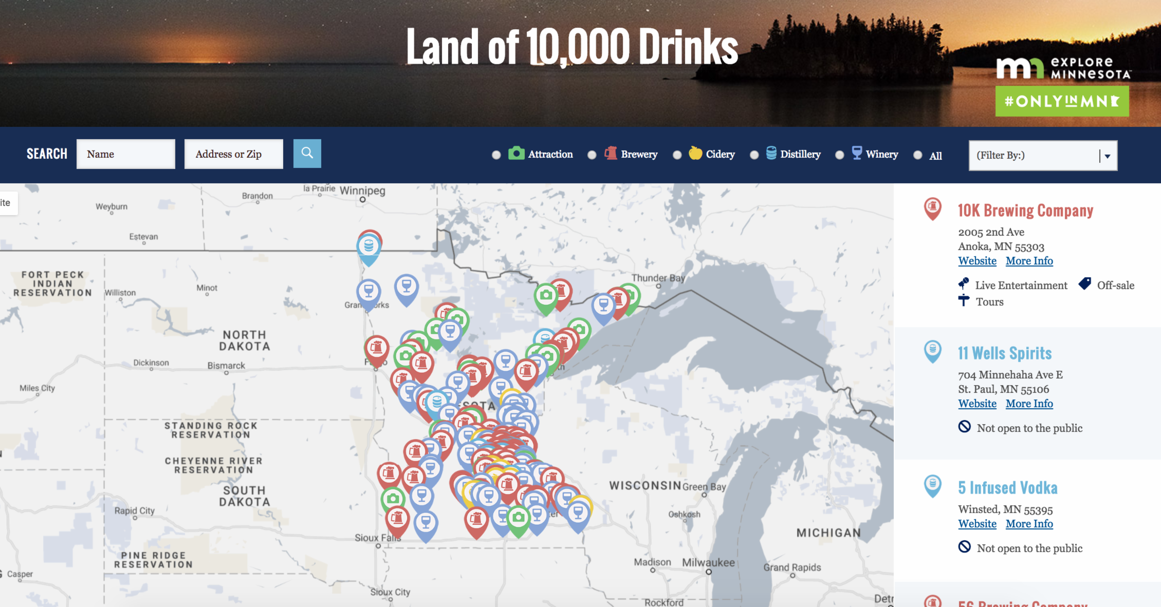 breweries in minnesota map The Growler Magazine Debuts Land Of 10 000 Drinks An breweries in minnesota map
