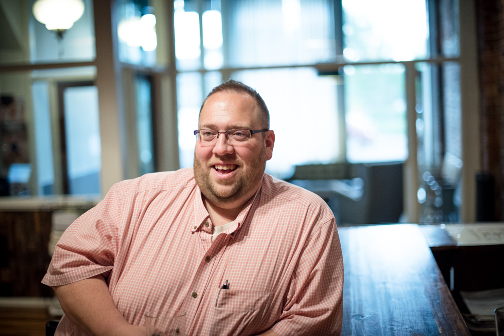 Andrew Schmitt, the founder of Minnesota Beer Activists // Photo by Kevin Kramer, The Growler