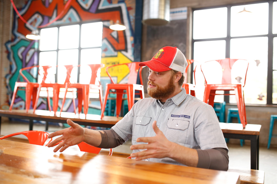 Matt Schwandt, co-founder of Bauhaus Brew Labs, is a fan of Trivia Mafia // Photo by Aaron Davdison