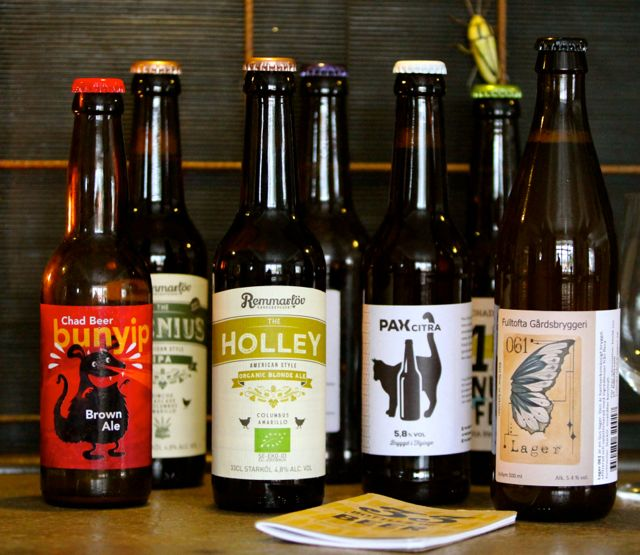 A variety of craft beers from the Skåne region // Photo by Barry Ness