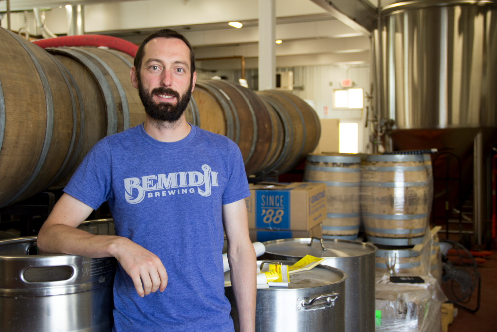 Tom Hill of Bemidji Brewing // Photo by Brian Kaufenberg