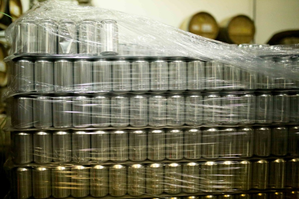 Blank cans awaiting labels // Photo by Aaron Davidson