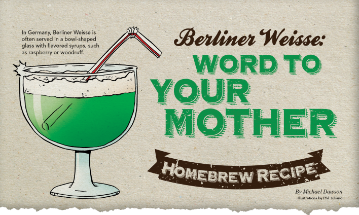 Homebrew Recipe: Berliner Weisse // Illustration by Phil Juliano