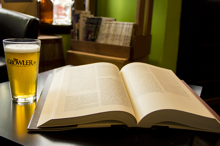 Books & Beer // Photo by Brian Kaufenberg