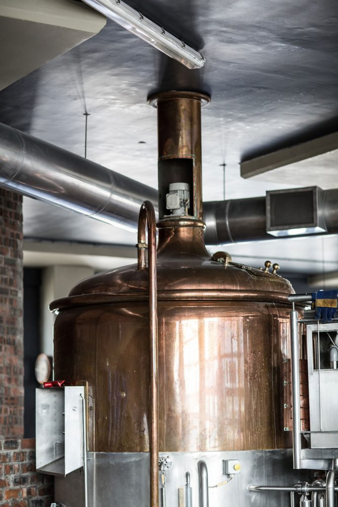 Brewing kettle at Devil's Peak Brewing Company // Photo courtesy of Devil's Peak Brewing Company