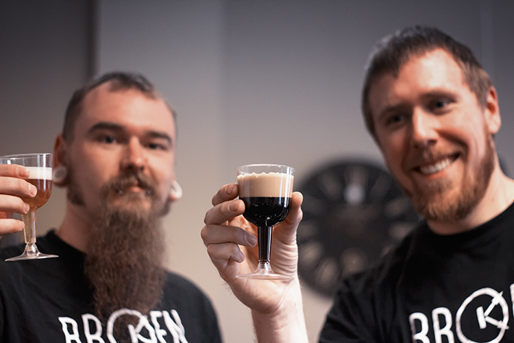 Broken Clock Brewing Coop brewers Will Hubbard and Mike Johnson // Photo courtesy of Broken Clock Brewing Coop