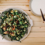 Roasted Brussels Sprouts with Pancetta Cream Recipe