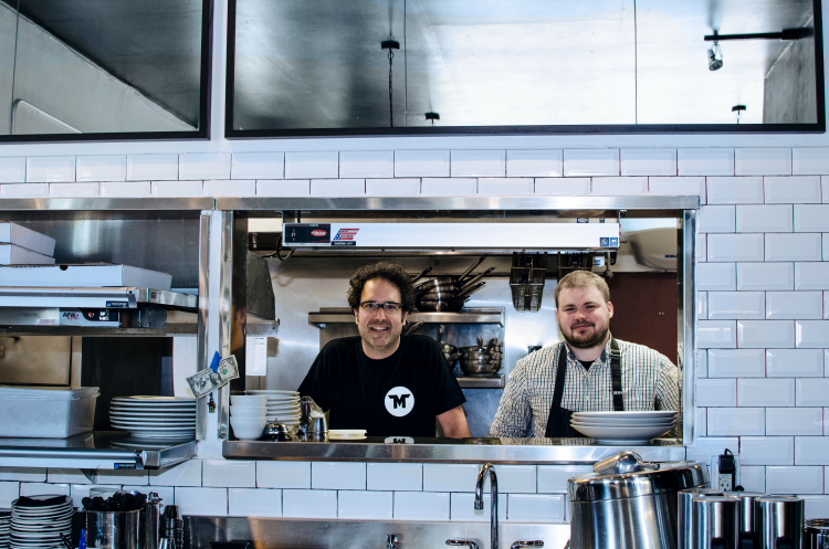 Tim Niver and Chris Uhrich, owners of Mucci's Italian // Photo by Madalyn Rowell