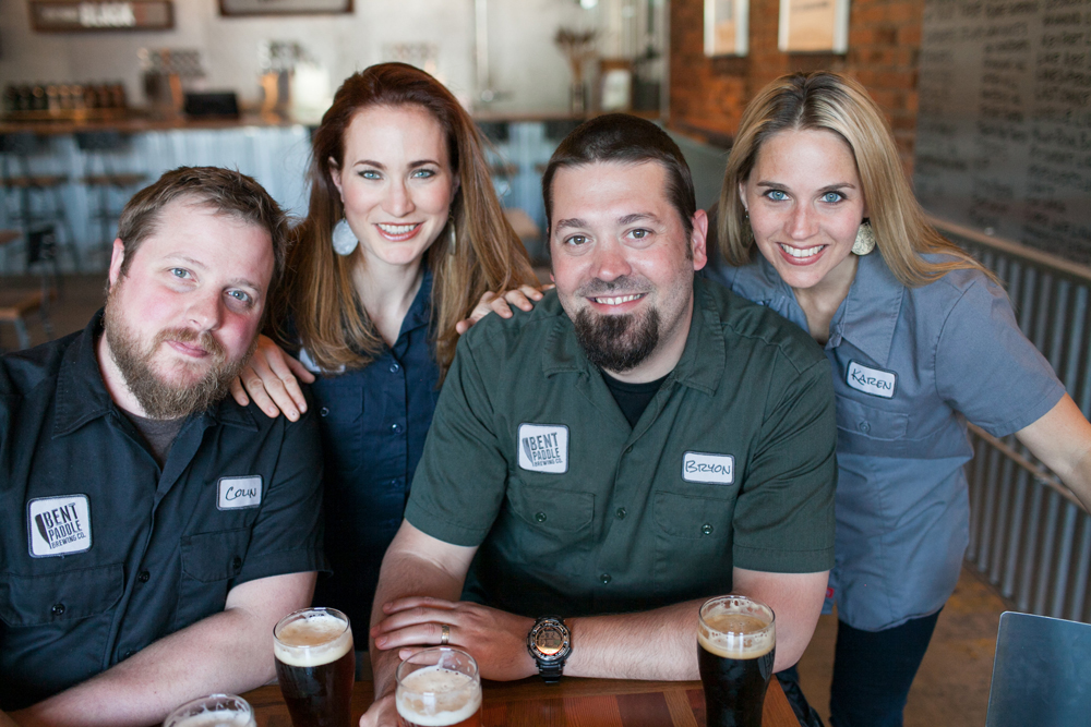Colin, Laura, Bryon, and Karen of Bent Paddle -- Photo by JaneCane Photography