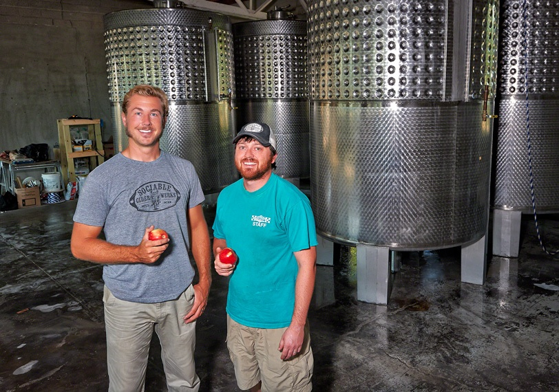 Jim Watkins and Wade Thompson of Sociable Cider Werks // Photo courtesy Sociable Cider Werks