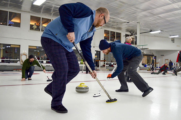 Curlers in action at the new Chaska Curling Center // Photo by Jocelyn Mogren