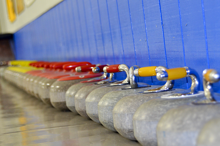 Curling stones at the Chaska Curling Center // Photo by Jocelyn Mogren