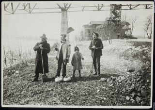 Curlers on the Mississippi River in Minnesota circa 1891 // Photo courtesy of the Minnesota Historical Society