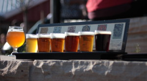 Flights at Odell Brewing // Photo by Brian Kaufenberg